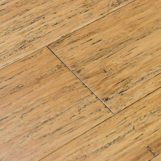 Brushed Strand Woven Natural Bamboo Flooring